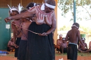 Warlukurlangu Artists, Yuendumu, NT - ceremony body painting