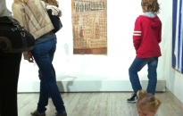IDAIA's bark paintings and ochres guided tours, part of NAIDOC Week 2013 at the Art Gallery of NSW