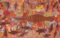 Warakurna Women Collaborative Painting - Minyma Lungkata Tjukurpa, 2010 - 101.6 x 213.4 cm - Acrylic on canvas - Ref. 24-11