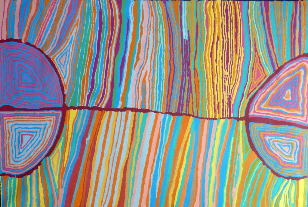 Judy Napangardi Watson - Desert Oak Dreaming - 2011 - 183x122cm