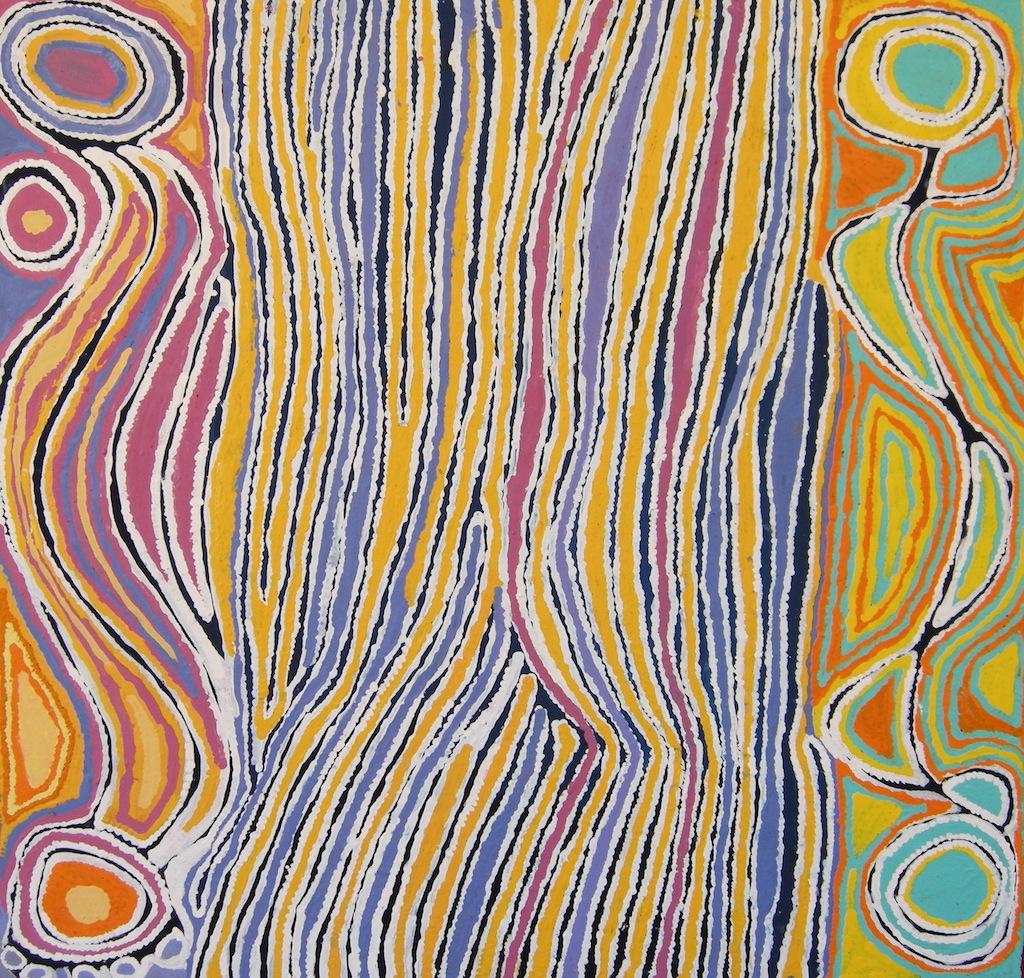 Judy Napangardi Watson - Mina Mina Dreaming, 2008 - 91x91cm
