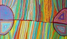 Judy Napangardi Watson - Desert Oak Dreaming - 2011 - 183x122cm LARGE