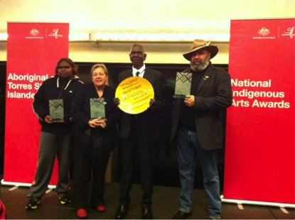 Winners of the 6th National Australian Indigenous Art Awards at Sydney