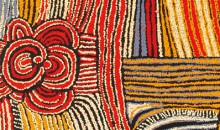 IMAGE: Walangkura Napanangka (Pintupi, born c.1945, Walungurru (Kintore), Western and Central Desert, Northern Territory) Lupul (detail), 2005. Acrylic on canvas, 122 x 122 cm. Gift of Will Owen and Harvey Wagner; 2009.92.321. © 2013 Artist Rights Society (ARS), New York/VISCOPY, Australia