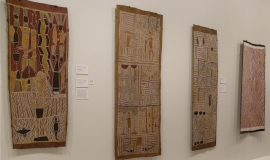 BARK PAINTINGS AND OCHRES