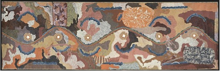 Fig.3  Tim Leura Tjapaltjarri (Anmatyerr c.1929-1984) and Clifford Possum Tjapaltjarri (Anmatyerr c.1932-2002), Spirit Dreaming through Napperby country, 1980  Synthetic polymer paint on canvas  207.7 x 670.8 cm  National Gallery of Victoria, Melbourne  Felton Bequest, 1988  (O.33-1988)  © Artists and their estates 2011, licensed by Aboriginal Artists Agency Limited and Papunya Tula Artists