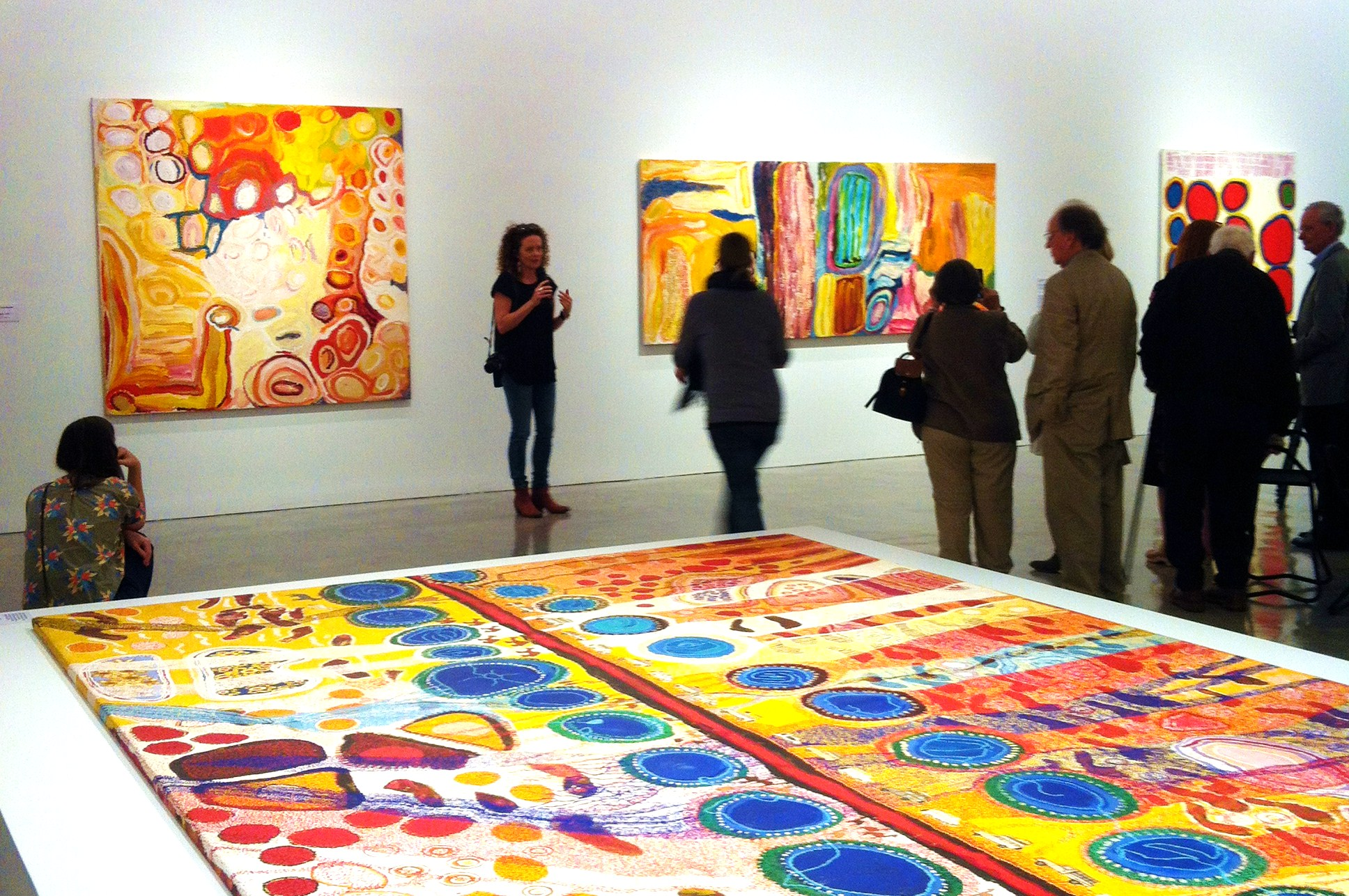 View of exhibition 'Martu Art from the Far Western Desert' at the Museum of Contemporary Art, Sydney - Photo © IDAIA