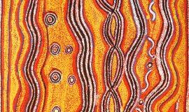 Paddy Japaljarri Sims - Warlu Jukurrpa (Fire Dreaming), 2008 - 152 x 122 cm @ Warlukurlangu Artists