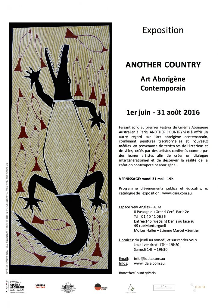 View of exhibition's poster - Please note closing date was changed to 10 Sep. 2016