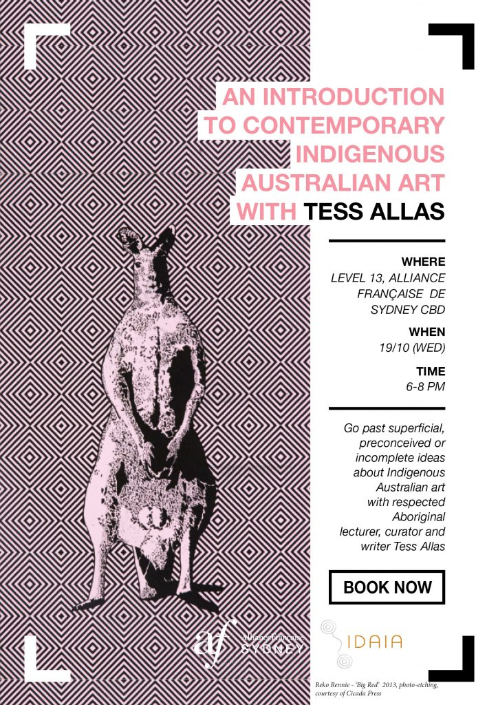 Poster Lecture Tess Allas - 19 Oct. 016 - Scratching the surface at Alliance Francaise de Sydney