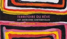 "View of exhibition catalogue ""Dreaming Territory. Contemporary Aboriginal Art"" at the Pierre Arnaud Foundation  © Pierre Arnaud Foundation / Arteos"
