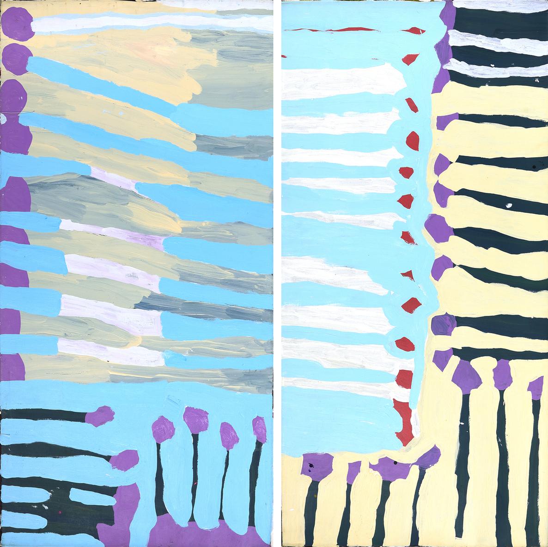 Artwork by Aboriginal artist Lisa Uhl entitled Karrkapi, 2017