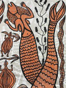 Sonia Namarnyilk - Yawkyawk (detail) - Silkscreen print on linen / Sérigraphie d'art sur lin © The Artist and Maningrida Arts & Culture