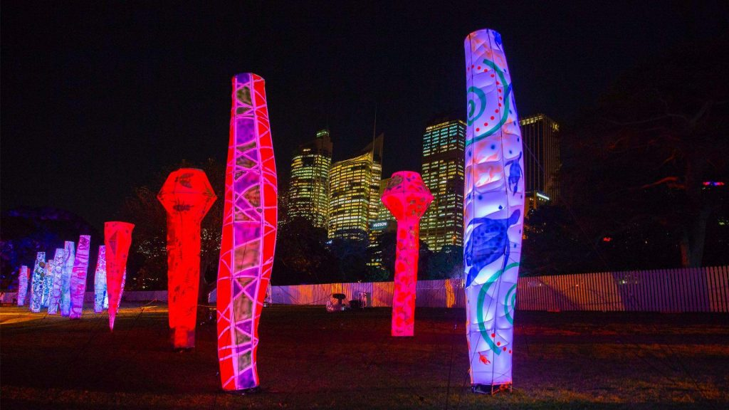 Lighthouses at the Royal Botanical Garden - Vivid Sydney - Photo Steve Christo