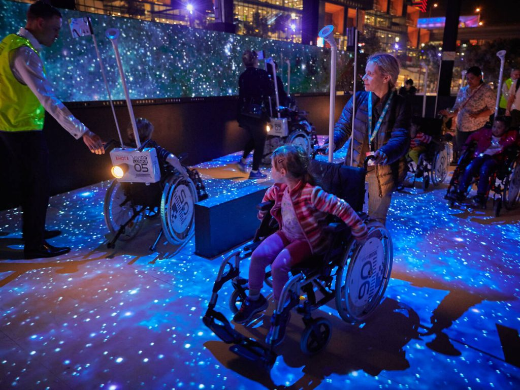 'Under the Milky Way' at the Tumbalong Lights Inclusive Playspace - Darling Harbour - Photo Vivid Sydney
