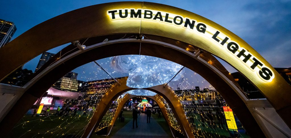 'Under the Milky Way' at the Tumbalong Lights Inclusive Playspace - Darling Harbour - Vivid Sydney - Photo Destination NSW