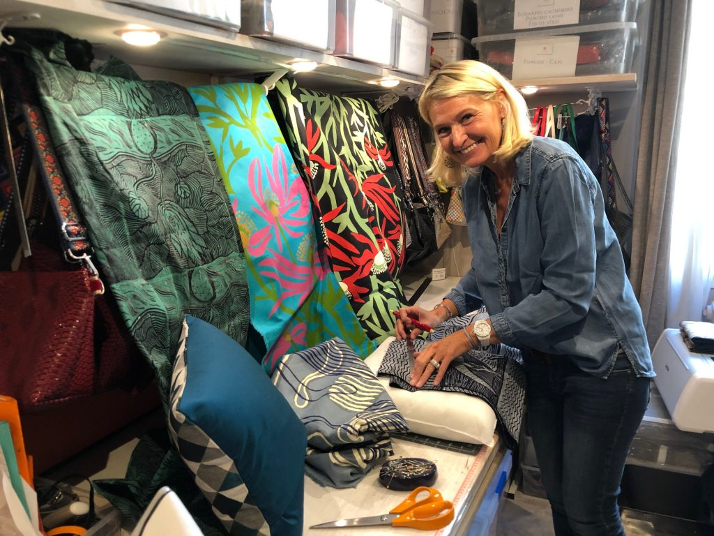 Designer Aude Fisch in her workshop in Paris - Photo IDAIA