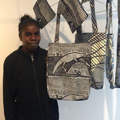 Jacinta Lamilami - Launching the IDAIA x Babbarra Collection at Bliss Studio Paris © Photo IDAIA