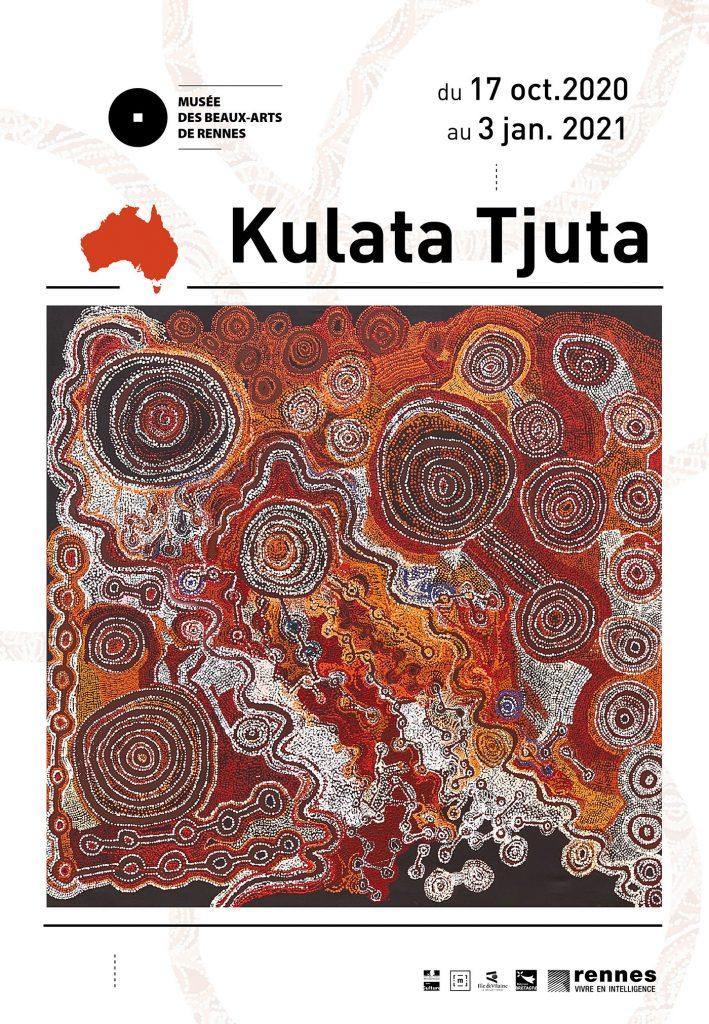 Poster of Kulata Tjuta exhibition at Musée des Beaux-Arts de Rennes